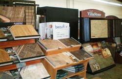 Beauflor and Villa Stone tile displays